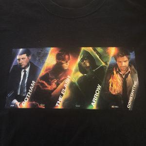 Tops - Warner Brothers TV Shirt ARROW FLASH Constantine L